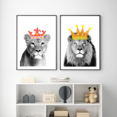Jungle royale art prints (set of 2)