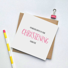 Personalised Christening greeting card
