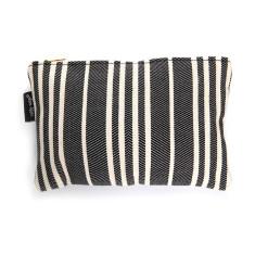 Basque Linen Vanity Bag 'Souraide' in Black & White