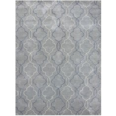 City water blue hand tufted rug