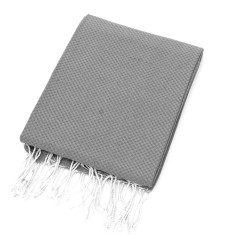 Organic cotton throw in grey