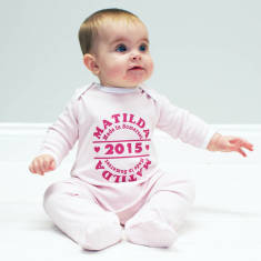 Personalised Made In Baby Onesie