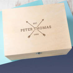 Personalised Men's Arrow Keepsake Box