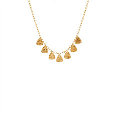 Tribal Necklace in 18 KT Yellow Gold Plate