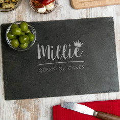 Personalised 'Queen Of Cakes' Serving Board