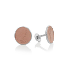 Australian Rose Gold & Silver One Cent Coin Cuff Links
