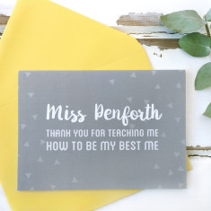 Personalised Thank You For Teaching Me Teacher Card