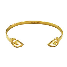 Casablanca open cuff in 18 kt yellow gold plate