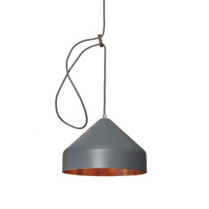 Lloop copper lampshade in grey or green