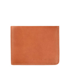 Alfred leather wallet in camel