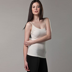 Bamboo camisole singlet in white