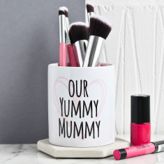 Personalised Yummy Mummy Make Up Brush Pot