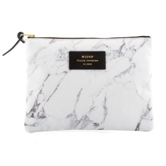 Woouf Pouch Large - White Marble