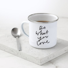 Do What You Love Enamel Mug