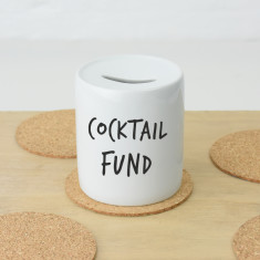 Personalised favourite drink fund money box