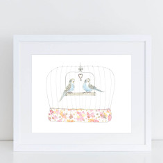 Budgie Love - Limited Edition Fine Art Print
