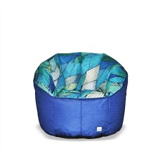 BBBYO Luxury linen armchair beanbag - tide print