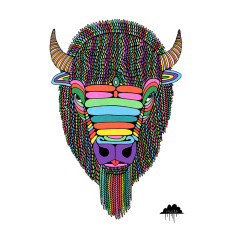 Barry the magic bison art print