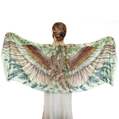 Wings cotton scarf in vintage green