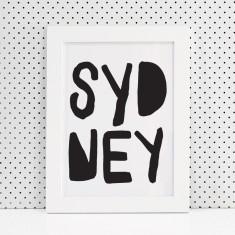 Sydney typographic print