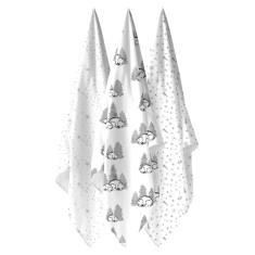 WEEGOAMIGO 3 Pack Bamboo Muslin - Shooting Stars