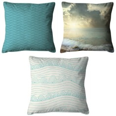 Coastal saltwater sea cushion collection (set of 3)