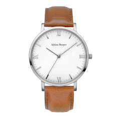 London - Classic Silver Brown Leather Watch