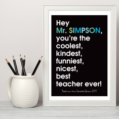 Personalised best (male) teacher ever (more colours)