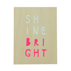 Shine bright ply screenprint