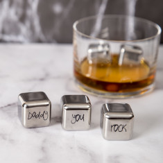 Daddy You Rock Stainless Steel Ice Cubes