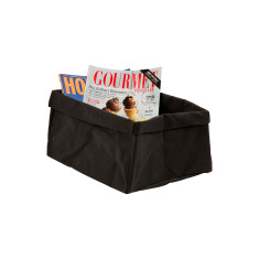 Inscribed Black Washable Paper Storage Bag
