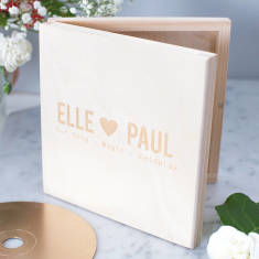 Personalised couple's CD keepsake box