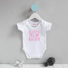 Scottish Baby Grow 'Bonnie New Bairn'