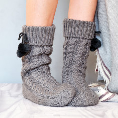 Slouch Slipper Boots