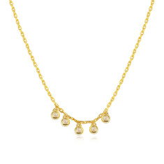 Twinkle 5 Diamond Necklace