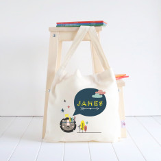 Lion personalised library bag