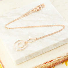 Jaisalmer circle necklace in rose gold plate
