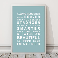 Always remember you're beautiful print