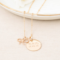 Personalised Tying The Knot Necklace
