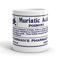 Muriatic acid vintage-style poison label mug