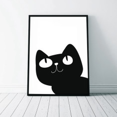 Cat Illustration Wall Art Print