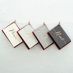 Luxury Hand Pressed Christmas Cards