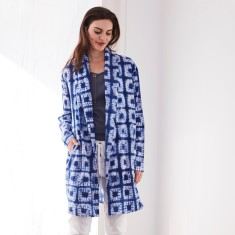 Shibori square duster coat