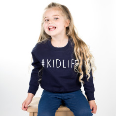 Kidlife Hashtag Children's Sweatshirt Jumper