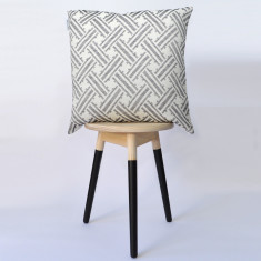 Monochrome jacquard cushion cover