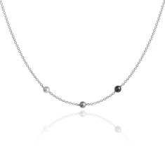 Neapolitan swarovski pearl necklace in grey