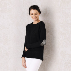 Avignon sweater in black and silver