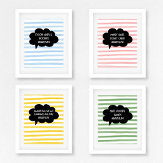 Hashtag baby life prints (set of 4)