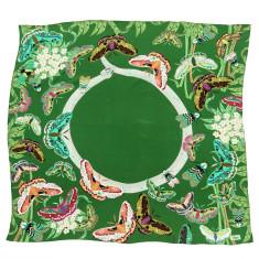 Green Moth & snake silk scarf