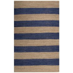 Navy/Natural - Natural Fibre Rug